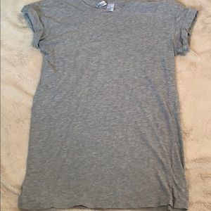 H&M Divided Gray Rolled Sleeve Tee